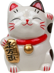 Chat Japonais Maneki Neko Tirelire - Richesse