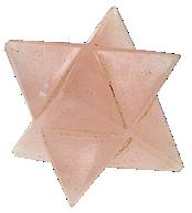 Etoile Merkaba Quartz rose