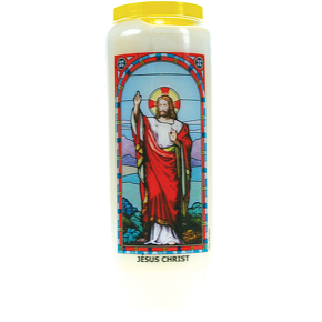 Neuvaine vitrail Jésus Christ