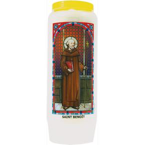 Neuvaine vitrail Saint Benoît