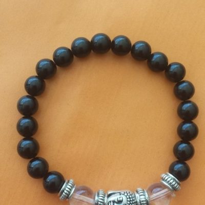 obsidienne & quartz & bouddha