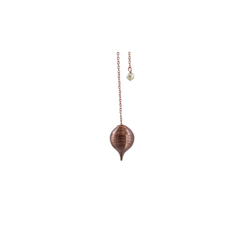 pendule boule stri e en cuivre radiesth sie cocooning center. Black Bedroom Furniture Sets. Home Design Ideas