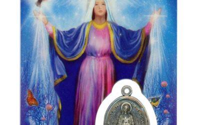 Médaille sur Médaille sur carte Sainte-Marie