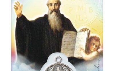 Médaille sur Médaille sur carte Saint-Benoît