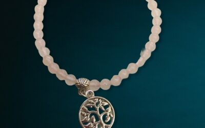 «amour' quartz rose 4 mm arbre de vie
